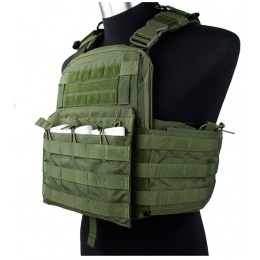 AMA Tactical QD Protective Nylon Cherry Tactical Vest - OD GREEN