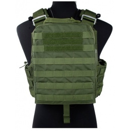 AMA Tactical QD Protective Nylon Cherry Plate Carrier - OD GREEN