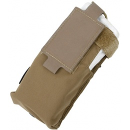 AMA 500D Nylon Paracord Lacing Patrol Radio Pouch - COYOTE BROWN