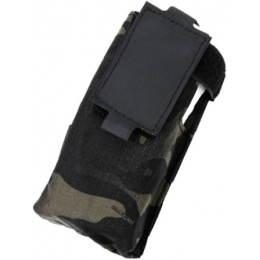 AMA 500D Nylon Paracord Lacing Patrol Radio Pouch - CAMO BLACK