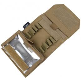 AMA Adhesive 500D Matte Dapper Admin Pouch - COYOTE BROWN