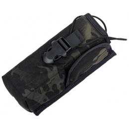 AMA PRC148 500D Cordura MOLLE Radio Pouch w/ Buckle Clip - CAMO BLACK