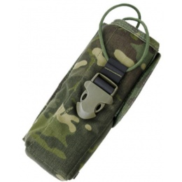 AMA PRC148 500D Cordura MOLLE Radio Pouch w/ Buckle Clip - CAMO TROPIC