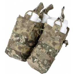 AMA Double Open Top Magazine Pouch w/ Paracord Lacing - PC BADLANDS