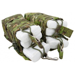 AMA Double Open Top Magazine Pouch w/ Paracord Lacing - PC GREENZONE