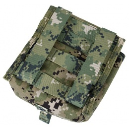 AMA Airsoft Tactical MOLLE NVG Battery Pouch - WOODLAND DIGITAL