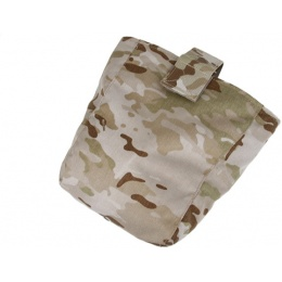 AMA Curve 500D Roll-Up Dump Bag w/ Adhesive Loop - CAMO DESERT