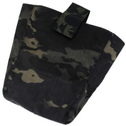 AMA Curve 500D Roll-Up Dump Bag w/ Adhesive Loop - CAMO BLACK