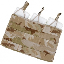 AMA Triple Wedge Magazine Pouch w/ Paracord Lacing - CAMO DESERT