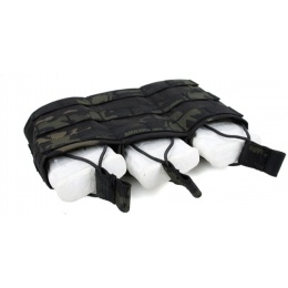 AMA Triple Wedge Magazine Pouch w/ Paracord Lacing - CAMO BLACK