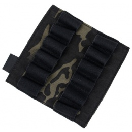 AMA Airsoft Cordura Double 870 Shotgun Shell Panel - CAMO BLACK