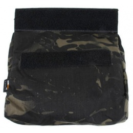 AMA Adhesive 500D Fabric & Webbing Roll Dump Pouch - CAMO BLACK
