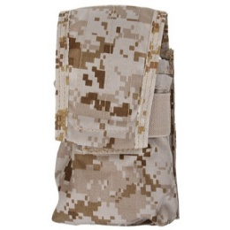 AMA HK417 Airsoft Double Tactical Magazine Pouch - DESERT DIGITAL