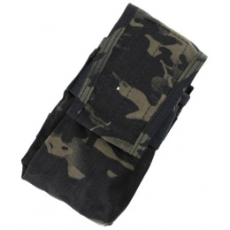 AMA HK417 Airsoft Double Tactical Magazine Pouch - CAMO BLACK