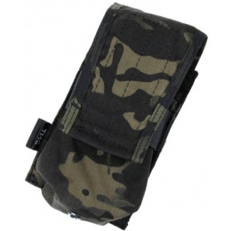 AMA HK417 Airsoft Single Tactical Magazine Pouch - CAMO BLACK