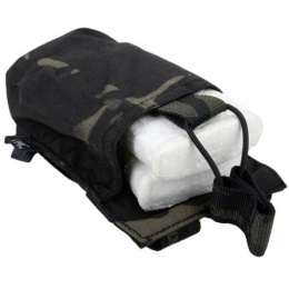 AMA OP HK417 Airsoft Single Tactical Magazine Pouch - CAMO BLACK