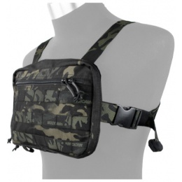 AMA Tactical Cordura Chest Strap Recon Loadout Bag - CAMO BLACK