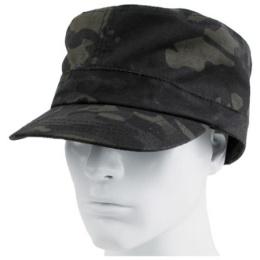 AMA Guardian Patrol Cap w/ Brass Strap - CAMO BLACK