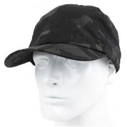 AMA Elastic Back Short Recon Adjustable Cap - CAMO BLACK