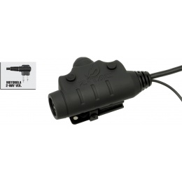 Z-Tactical U94 PTT Headset Accessory - MOTOROLA 2-PIN - BLACK