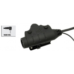Z-Tactical U94 PTT Headset Accessory - YAESU VERSION - BLACK