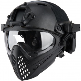 WoSport Piloteer Fast Helmet Adapter Face Mask - BLACK