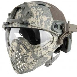 WoSport Piloteer Fast Helmet Adapter Face Mask - ACU