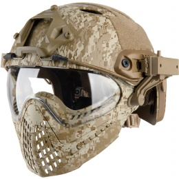 WoSport Piloteer Fast Helmet Adapter Face Mask - DESERT DIGITAL
