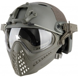 WoSport Piloteer Fast Helmet Adapter Face Mask - GRAY