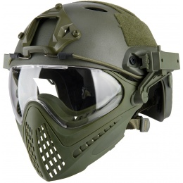 WoSport Piloteer Fast Helmet Adapter Face Mask - OLIVE DRAB