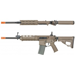 ARES M4 X AEG Compact Long Airsoft Rifle - DARK EARTH