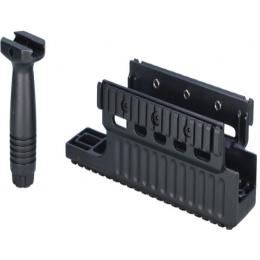 ARES Metal M60/MK43 Airsoft Handguard w/ Vertical Foregrip - BLACK