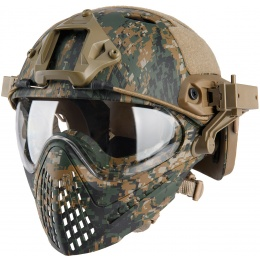 WoSport Piloteer Fast Helmet Adapter Face Mask - WOODLAND DIGITAL