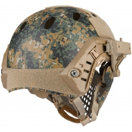 WoSport Piloteer Fast Helmet Adapter Face Mask - WOODLAND DIGITAL