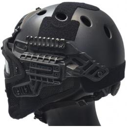 WoSport G4 System Nylon BUMP Helmet Mask w/ Goggles - BLACK