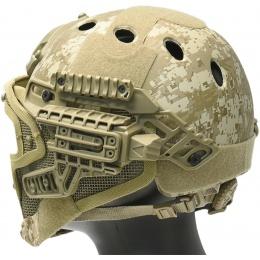 WoSport G4 System Nylon BUMP Helmet Mask w/ Goggles - DESERT DIGITAL