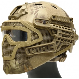WoSport G4 System Nylon BUMP Helmet Mask w/ Goggles - HLD