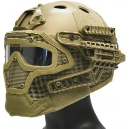 WoSport G4 System Nylon BUMP Helmet Mask w/ Goggles - TAN