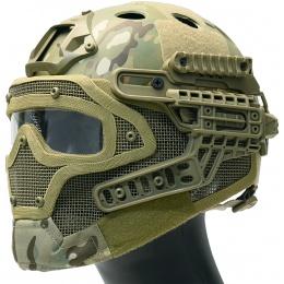 WoSport G4 System Nylon BUMP Helmet Mask w/ Goggles - CAMO