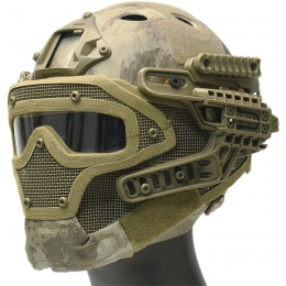 WoSport G4 System Nylon BUMP Helmet Mask w/ Goggles - AT