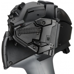 WoSport Tactical Helmet w/ NVG Shroud & Transfer Base - BLACK