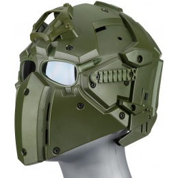 WoSport Tactical Helmet w/ NVG Shroud & Transfer Base - GREEN