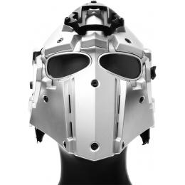 WoSport Tactical Helmet w/ NVG Shroud & Transfer Base - SILVER