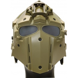 WoSport Tactical Helmet w/ NVG Shroud & Transfer Base - TAN
