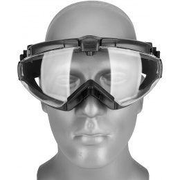 WoSport Tactical TPU Outdoor Aviator Fan Goggles - BLACK