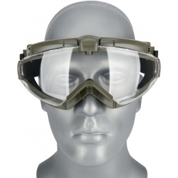 WoSport Tactical TPU Outdoor Aviator Fan Goggles - OLIVE DRAB
