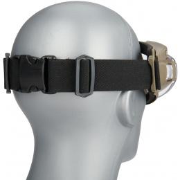 WoSport Tactical TPU Outdoor Aviator Fan Goggles - TAN