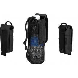 G-Force Tactical 1000D Nylon Folding Water Bottle Bag II - BLACK