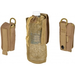 G-Force Tactical 1000D Nylon Folding Water Bottle Bag II - TAN