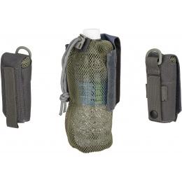 G-Force Tactical 1000D Nylon Folding Water Bottle Bag II - GRAY